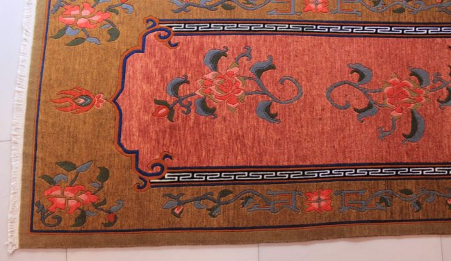 Tibetan Flower Rug beige