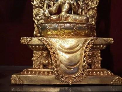 white tara gold statue base