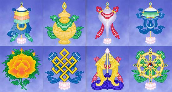 Восемь благоприятных символов Шакья Шри
