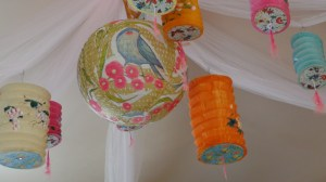 Paper lantern love for Fiona's party