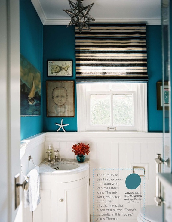Blue bathroom from Popular pin post on Shalavee.com