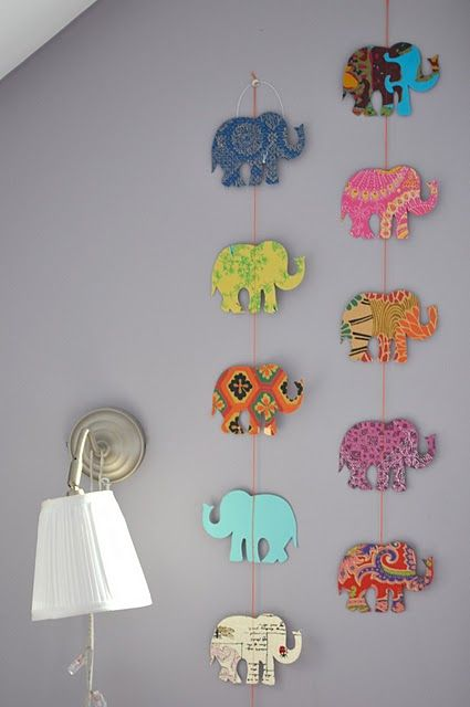 elephant garland from Love, Peace, Peonies.com via Shalavee.com's Most Pinned on Pinterest 2013