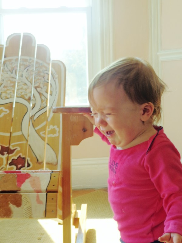 Fiona was really sad when I told her the chair was for a charity event and wasn't going to stay in her room, Shalavee.com