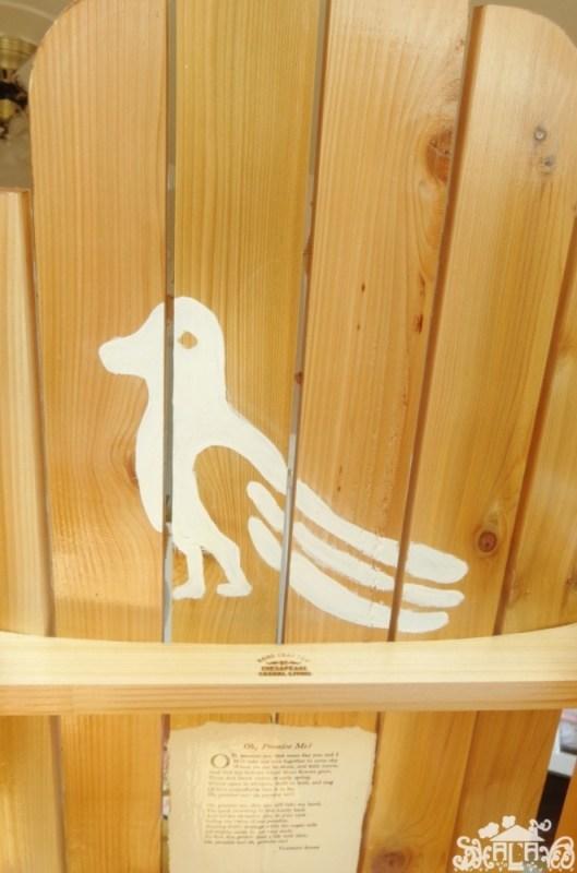 The hidden animal on the decoupaged rocking chair on Shalavee.com