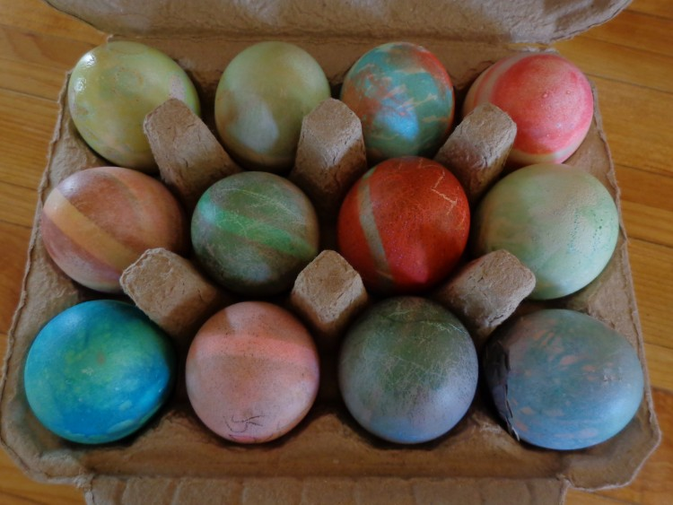 Dyed Easter eggs on Shalavee.com