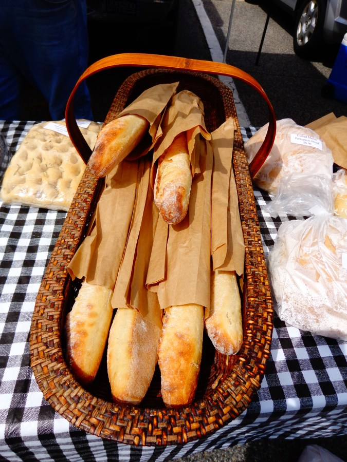 french baguettes from the Easton Farmer's Market on Shalavee.com