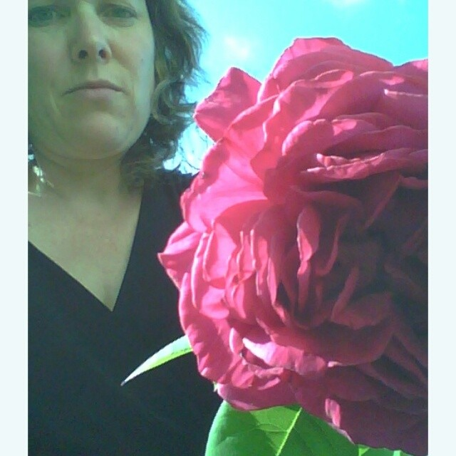 self portrait with rose from Shalavee.com