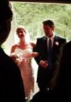 The bride enters the church from Christina's wedding on Shalvee.com