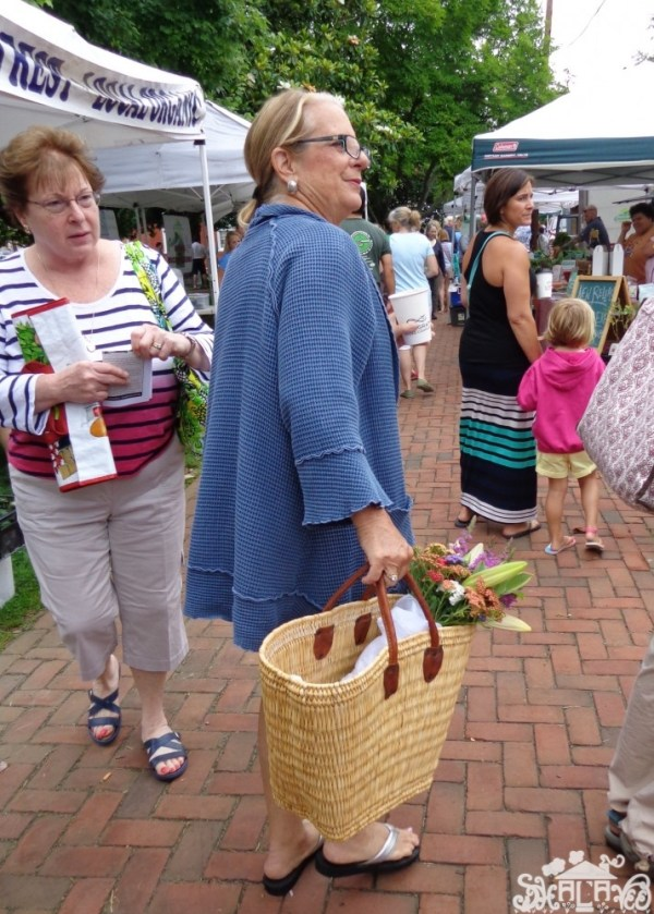 A typical shopper at  the Farmer's Market in #Chestertown,MD from Shalavee.com