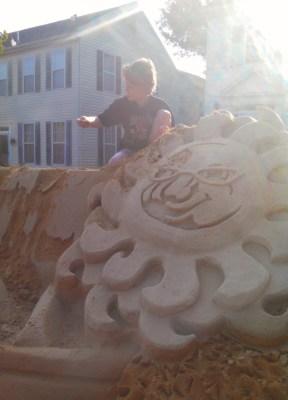 Desroying the sand sculpture from Summerfestive on Shalavee.com