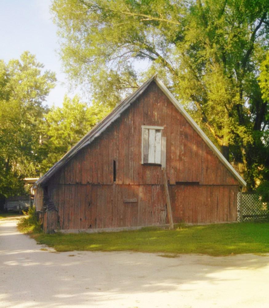 Joviality barn in shadow