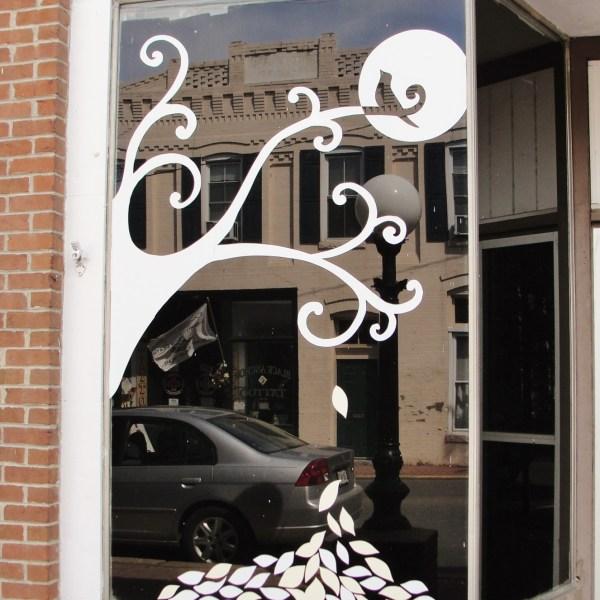 Downtown Denton's Window Decorations