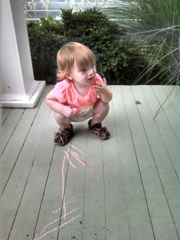 drawing on the porch from Barbie Dream House on Shalavee.com