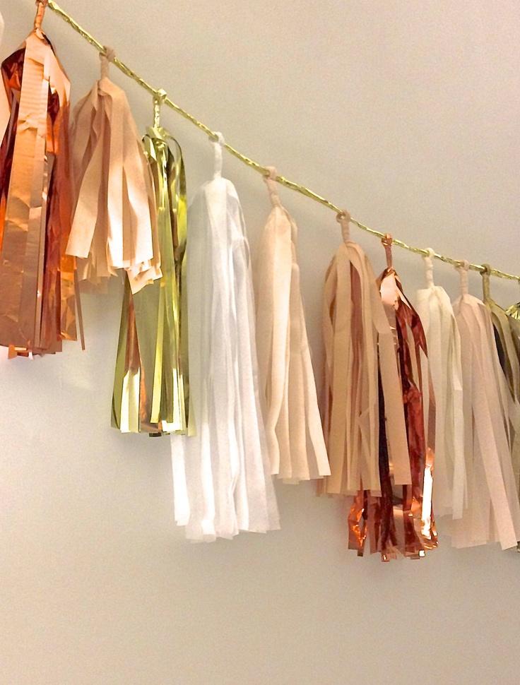 tissue tassel garland on Shalavee.com