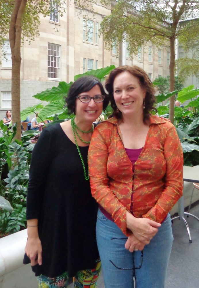 Kim Werker and I at the Smithsonian on Shalavee.com