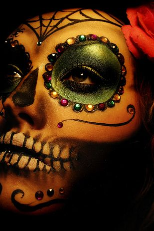 day of the dead makeup on Shalavee.com
