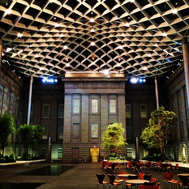 leah tucker's shot of the museum courtyard