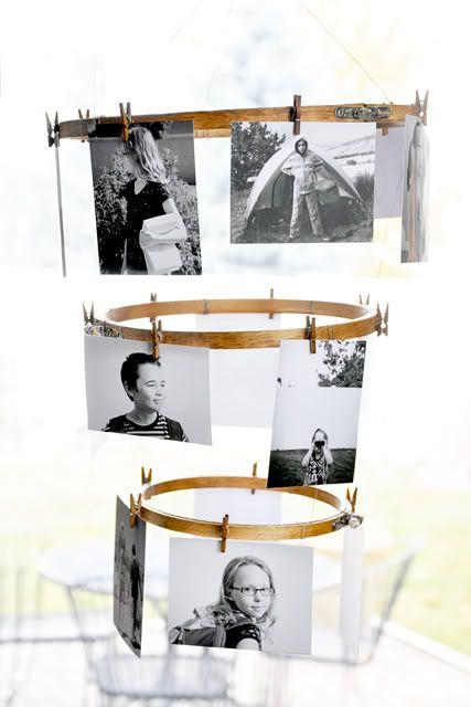 photo display chandelier from Natalme on Shalavee.com