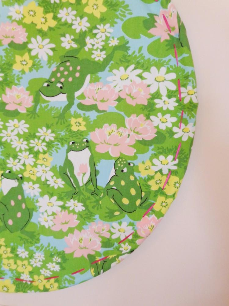 Hoola hoop with frog fabric on Shalavee.com
