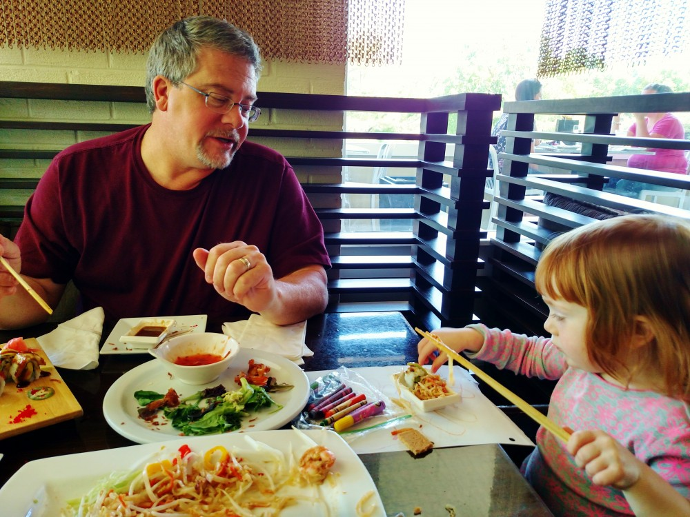 Mark and Fiona out for Sushi on Shalavee.com