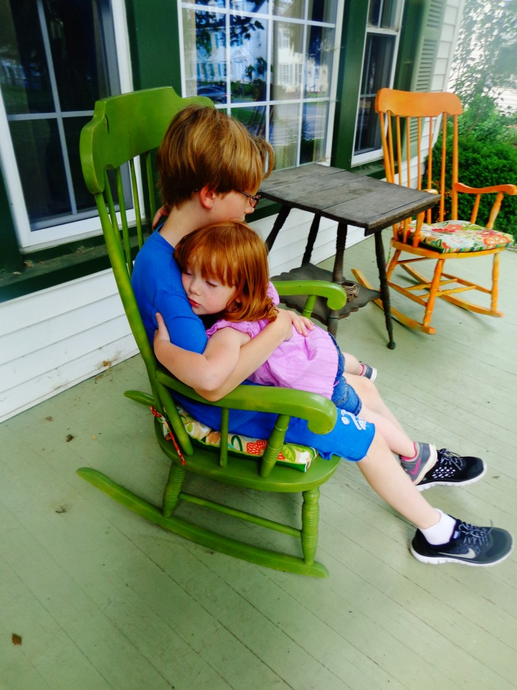Rocking chair hug on Shalavee.com
