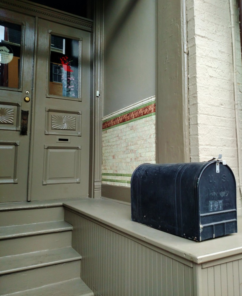 Mailbox and tiled doorway in Annapolis, MD on Shalavee.com