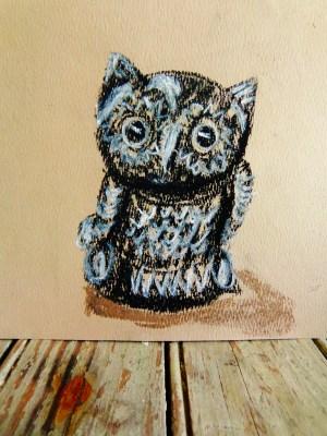 owly pastel drawing on Shalavee.com
