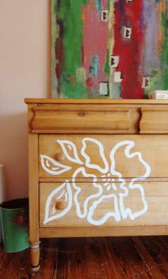 painted dresser in Fiona's room from Shalavee.com