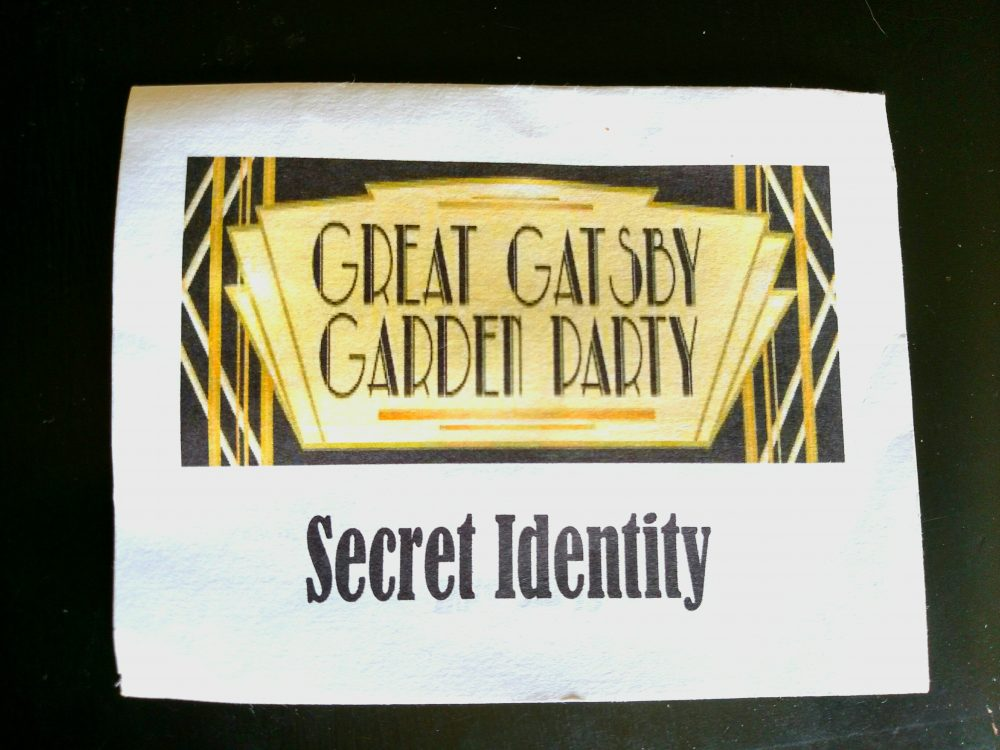 secret identity gatsby party on shalavee.com