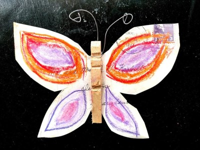 butterfly envelope in pastels on Shalavee.com