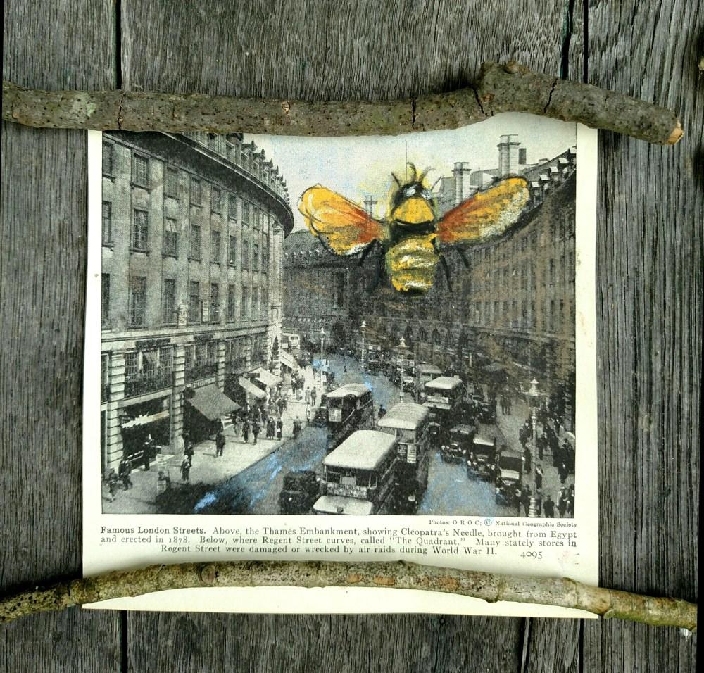 Pastel bee in London on week 3 of our creative September