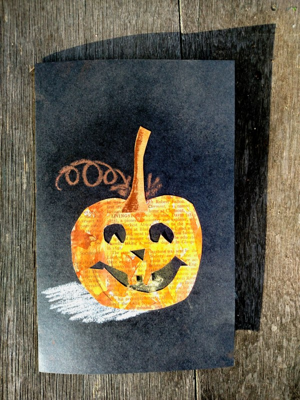 Halloween pumpkin card on Shalavee.com