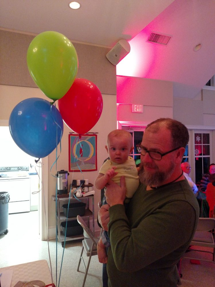 Young and old having fun for the trivia fundraiser at Shalavee.com