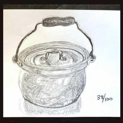 aluminum pot for the 100 days challenge days 34 through 54 on Shalavee.com
