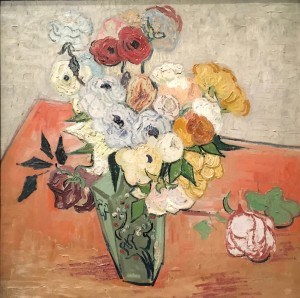 Roses and Anemones by Vincent van Gogh Photo: Mary van Balen