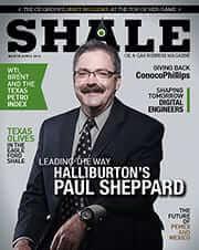 SHALE Magazine Cover March April 2014 Hallburton Paul Sheppard