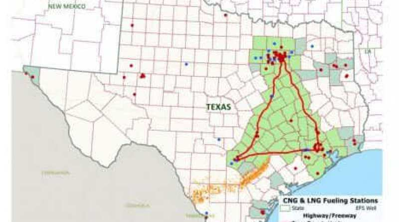 Map of Texas Clean Energy Triangle - Photo Credit: UTSA