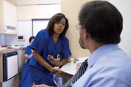 Baptist Healthy Solutions Mobile Screening Unit at VIA bus terminal in San Antonio, TX
