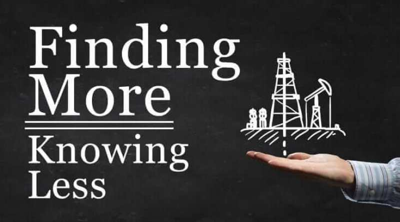 Oil pumping - Drawn with chalk oil pump icon on blackboard background - Finding More Knowing Less by Bill Keffer