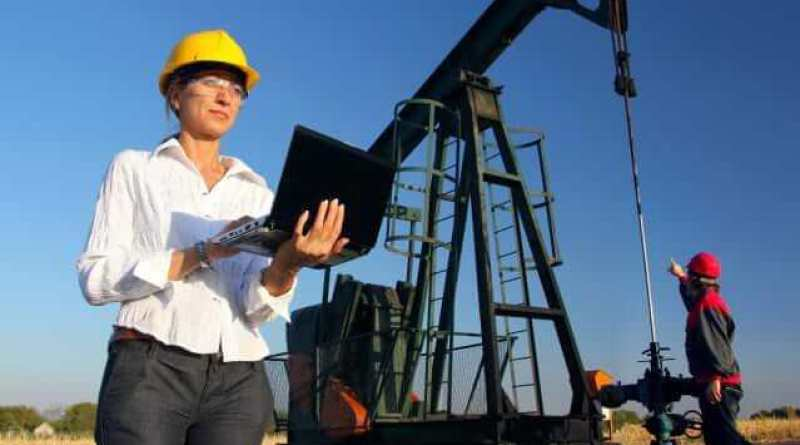 Women in Energy Industry - Workers in an Oilfield, teamwork