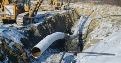 Construction of an oil and gas pipeline. Dakota Access Pipeline Energy Industry