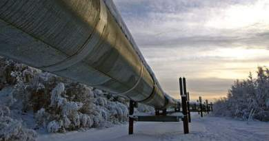 the trans-alaska oil pipeline in the winter