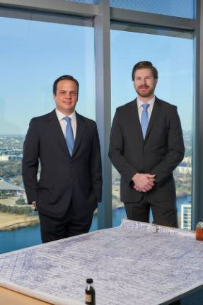 Austin, TX - February 12: Bryan Sheffield, Chairman and CEO, and Matt Gallagher, President and COO, Parsley Energy. Photographed in Austin, TX on February 12 2017. (Photograph ©2017 Darren Carroll)