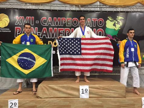 Little sleep but plenty of medals for karate champion and student leader