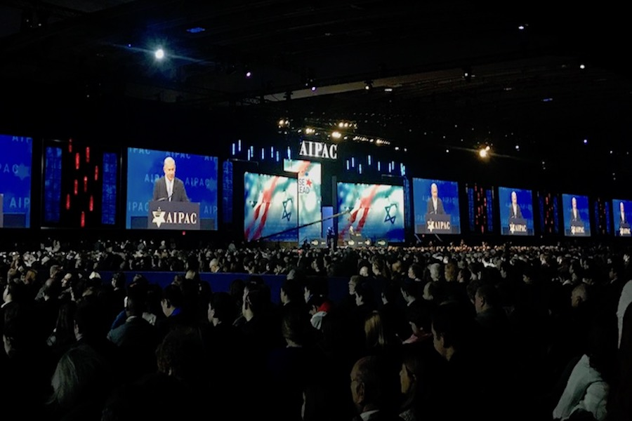 CROWD%3A+18%2C000+people+filled+the+Walter+E.+Washington+Convention+Center+in+Washington+DC+on+March+5+to+hear+from+Israeli+Prime+Minister+Benjamin+Netanyahu.