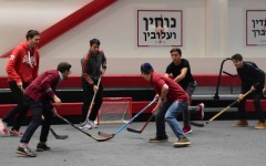 New hockey club turns gym into a rink for weekly games after Town Hall