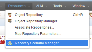 1 Recovery scenarios manager