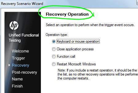 4 Recovery scenarios trigger operation