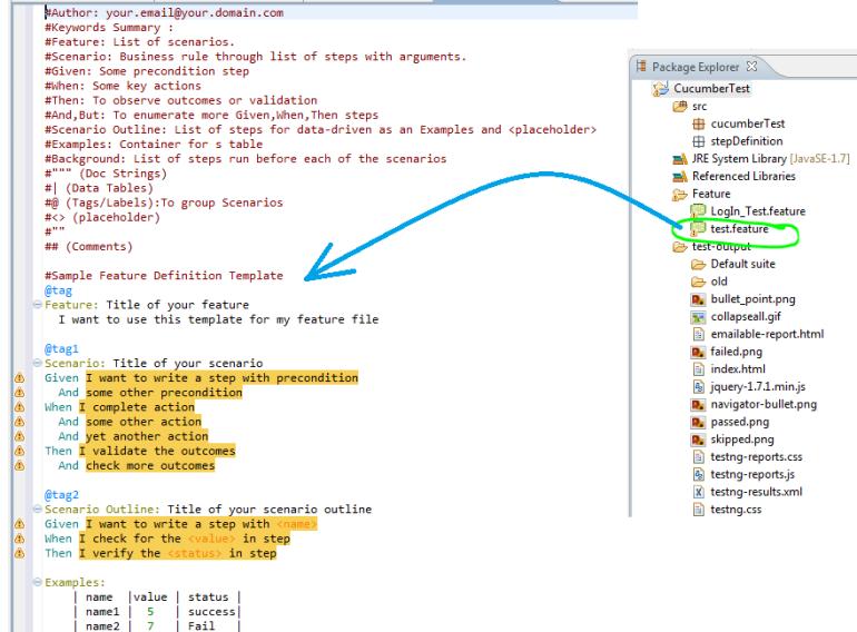 sample feature file