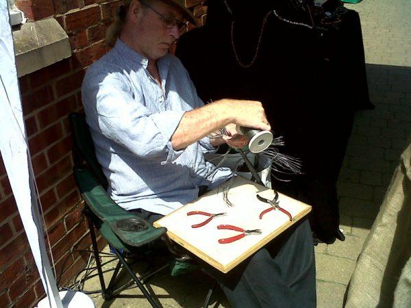 Dave at Goal Street Craft Fair in Oakham, 2011